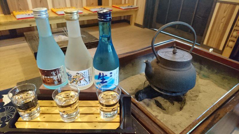 日本酒飲みくらべ