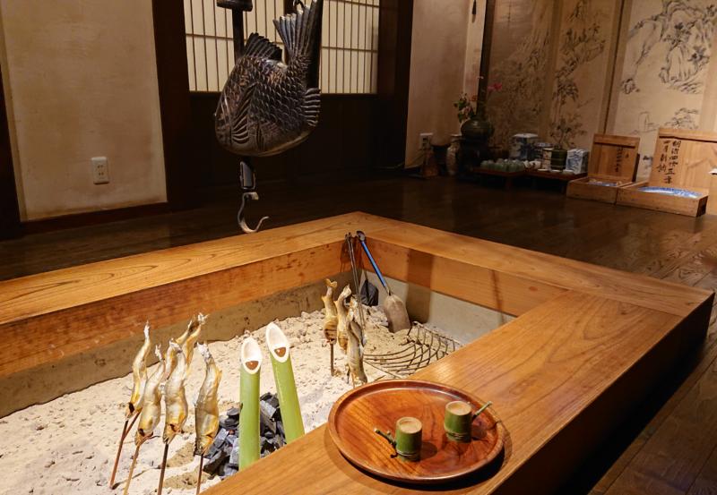 秋の山の実酒・囲炉裏で竹酒プラン♪