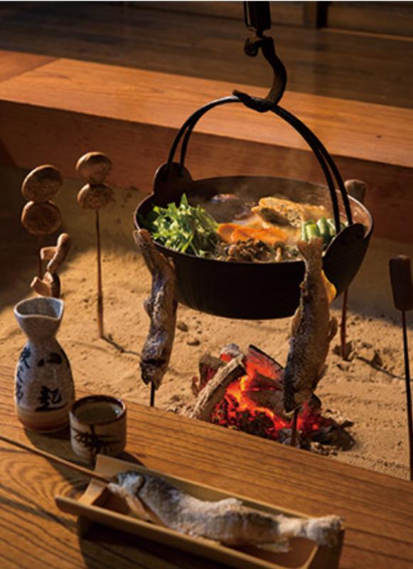 囲炉裏で食事が楽しめ宿おすすめ一位♪